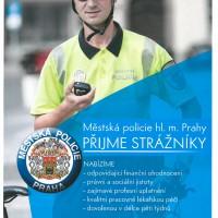 Náborový leták Městské Policie hl.m. Prahy