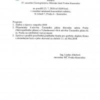 Program 27. Zasedání ZMČ ze dne 23. 7. 2018