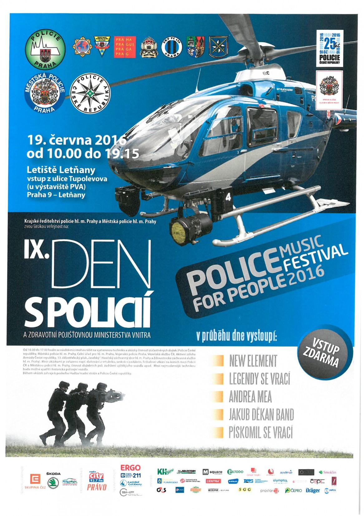 DEN S POLICIÍ na letišti v Letňanech 19.června od 10:00 - 19:15 hod