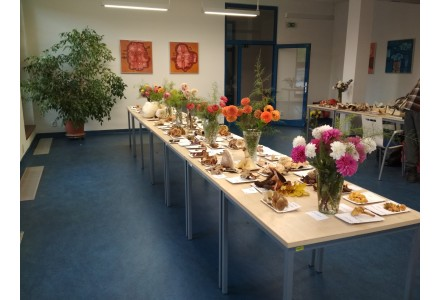 Každoroční výstava známých i méně známých druhů hub a prezentace jiřinek - fotogalerie. Mykologická poradna.