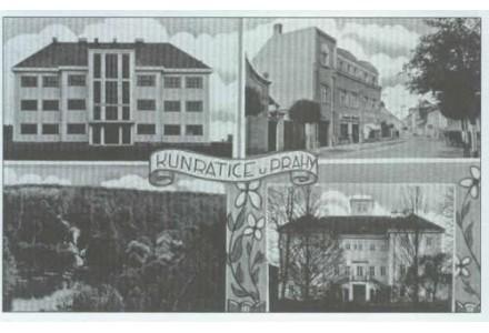 Kunratice 2. polovina 30. let 20. století.