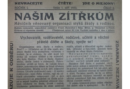 uryvek z deniku z roku 1923