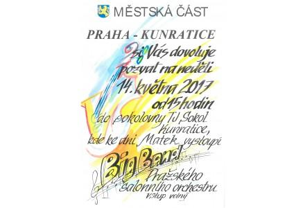 MČ PRAHA KUNRATICE Vás zve na koncert Pražského salónního orchestru