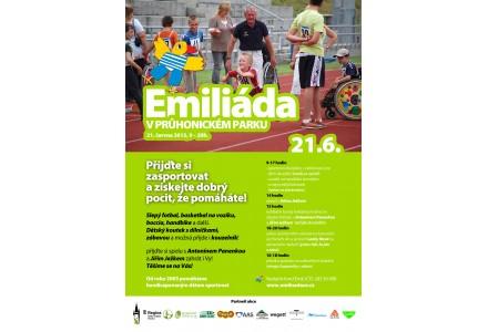 Emiliáda, která se bude konat 21.6.2015 v Průhonickém parku.