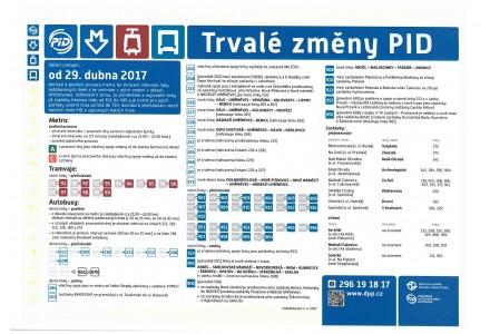 Od soboty 29.dubna 2017 dojde v provozu autobusové dopravy k některým trvalým změnám